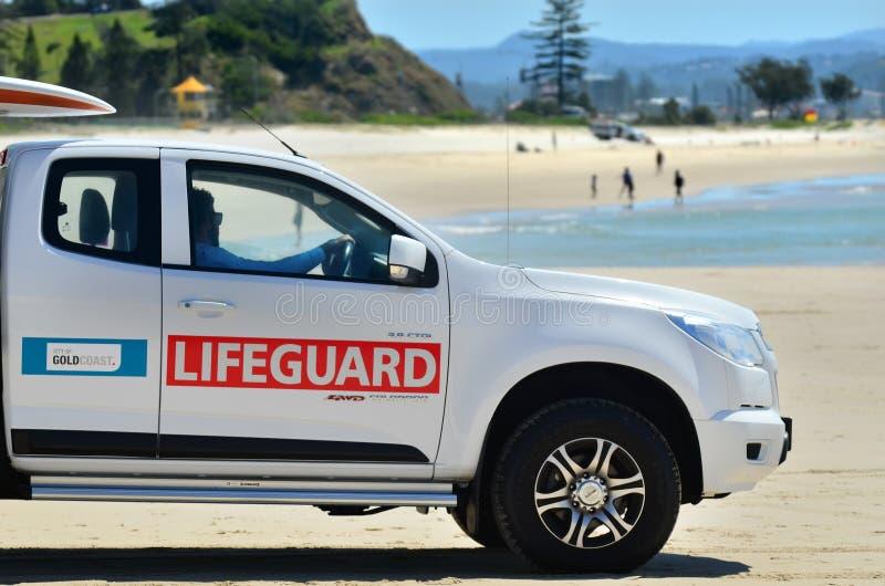 Australijscy ratownicy w złota wybrzeżu Queensland Australia zdjęcia stock