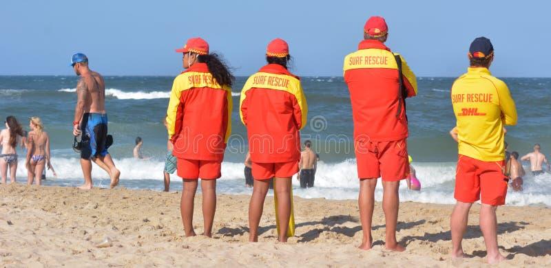 Australijscy ratownicy w złota wybrzeżu Queensland Australia obrazy stock