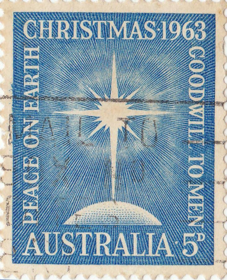 Australijscy znaczków pocztowych boże narodzenia obraz stock