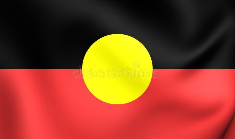 Australijska aborygen flaga ilustracji