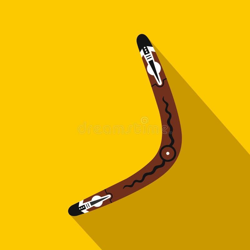 Australijska bumerang ikona, mieszkanie styl royalty ilustracja