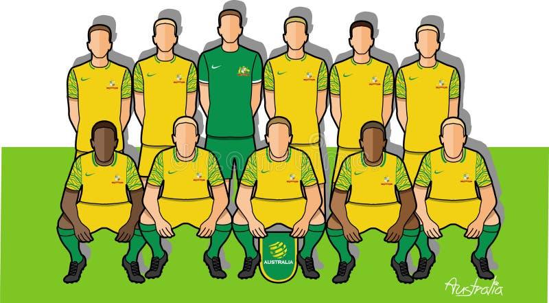 Australijska drużyna futbolowa 2018 ilustracji