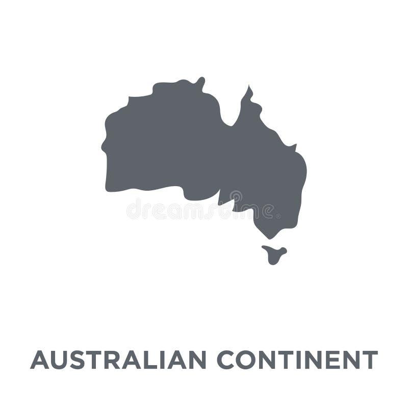 Australijska kontynent ikona od Australia kolekcji royalty ilustracja