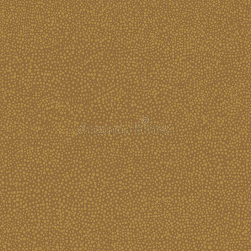 Australijska tubylcza ręka rysujący bezszwowy wektoru wzór z kropkami na brown tle ilustracja wektor