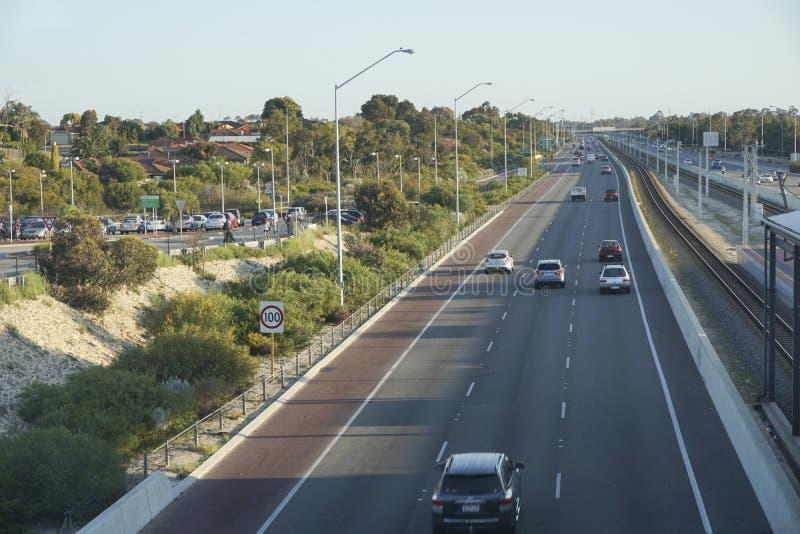 Australijski autostrady późne popołudnie 2015 obrazy stock