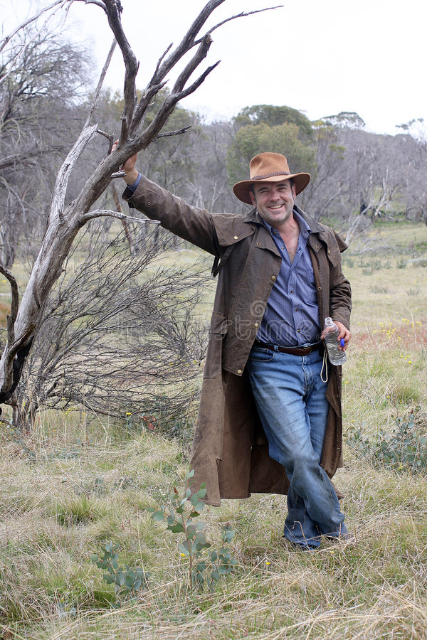australijski buszmen zdjęcie stock