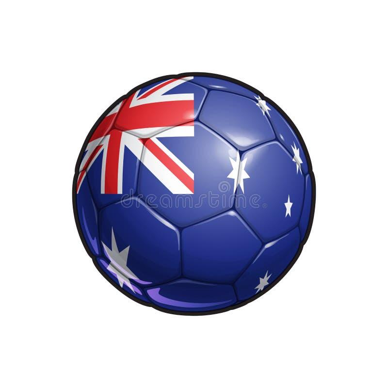 Australijski Chorągwiany futbol - piłki nożnej piłka royalty ilustracja