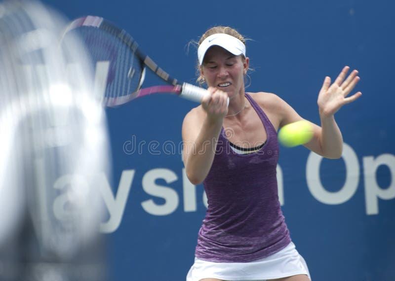 australijski Olivia gracza rogowska tenis fotografia stock