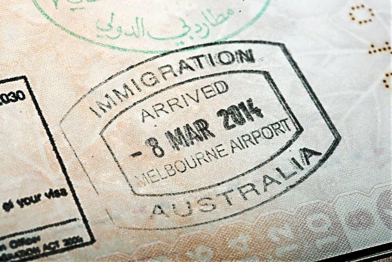 Australijski paszporta znaczek fotografia stock