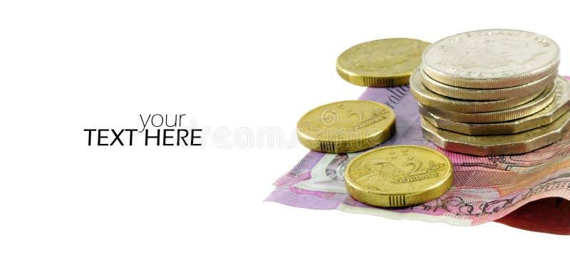 Australijski pieniądze zbliżenie zdjęcia royalty free