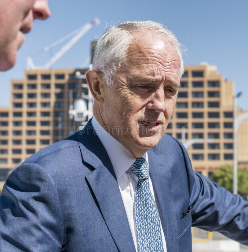 Australijski Pierwszorzędny minister, Malcolm Turnbull główkowanie obrazy stock