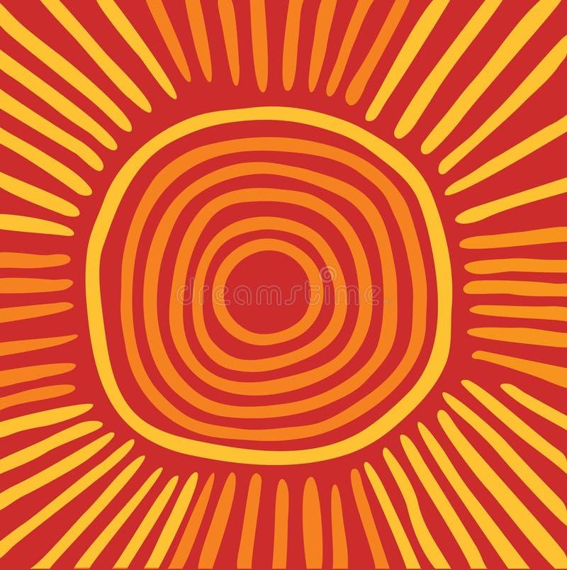 Australijski słońce ilustracja wektor