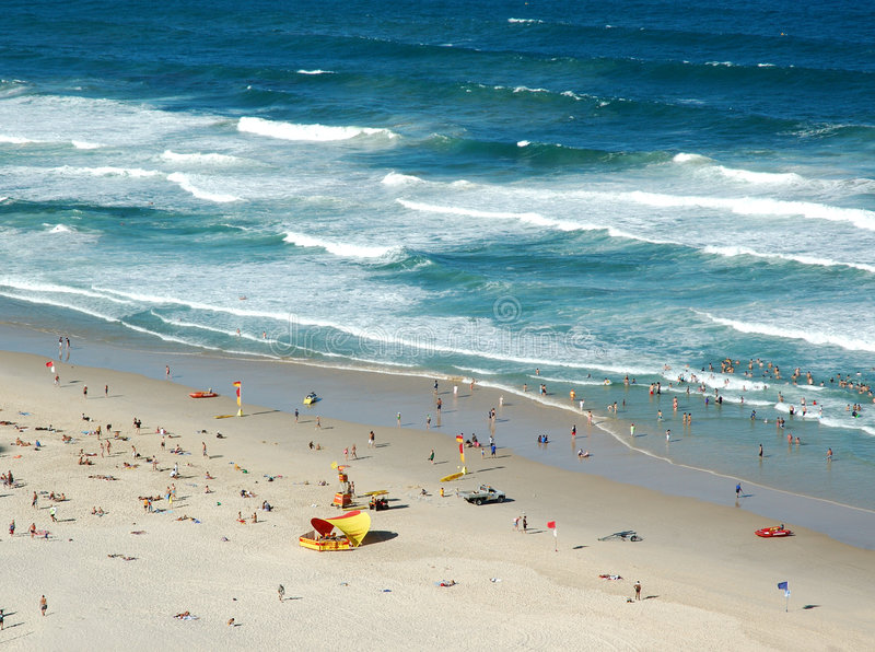 australijski scena plażowa obrazy royalty free