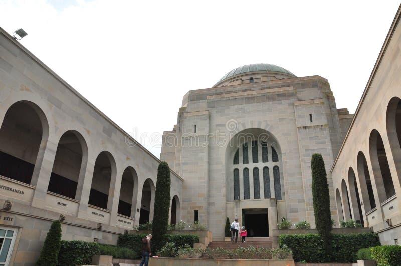 Australijski Wojenny pomnik jest Australia ` s krajowym pomnikiem członkowie swój podporowi organisations i siły zbrojne zdjęcia royalty free