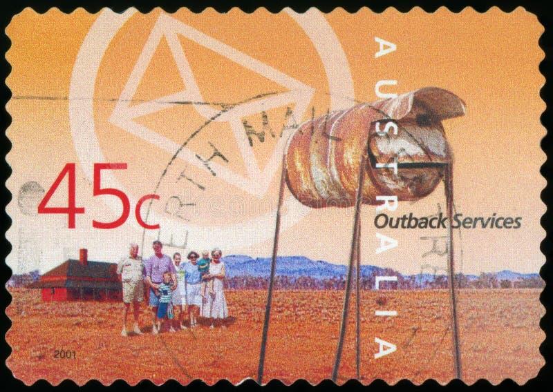 Australijski znaczek pocztowy - odludzie fotografia stock