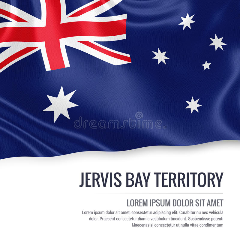 Australijskiego stanu Jervis zatoki terytorium flaga ilustracja wektor