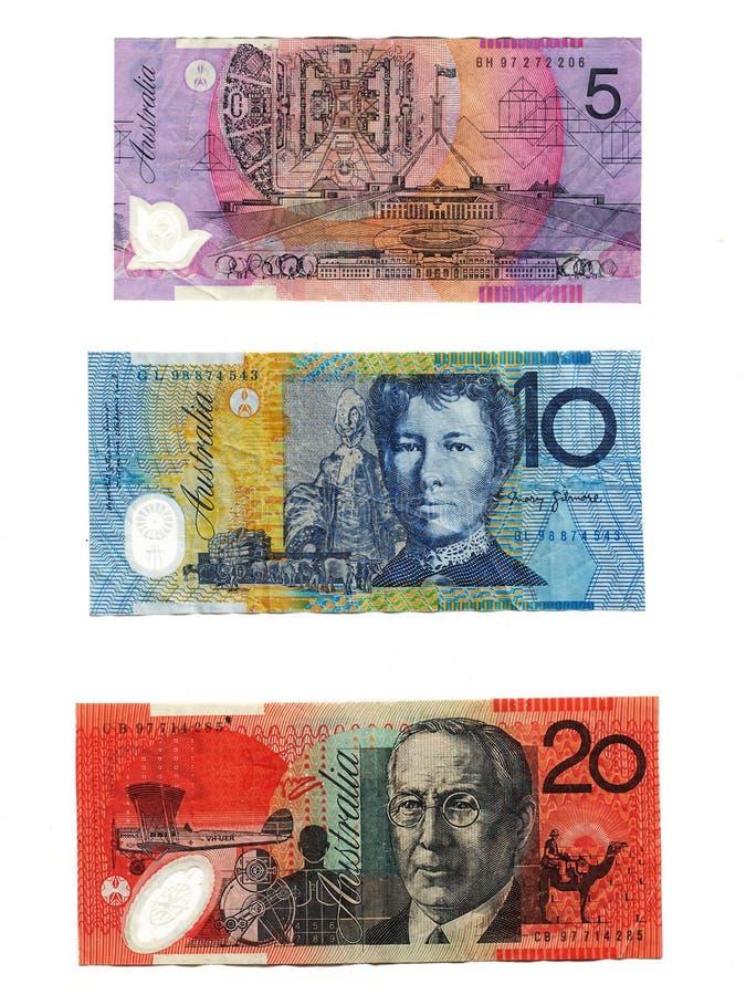 australijskiej waluty fotografia royalty free