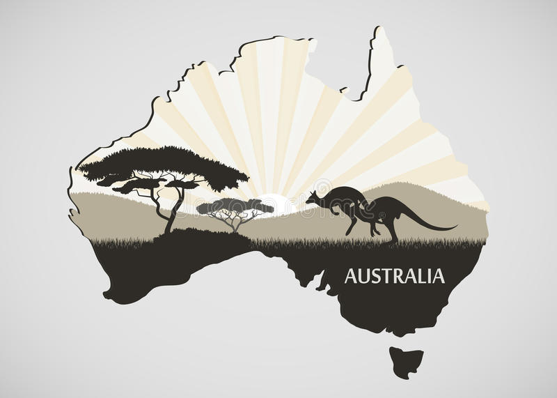 Australisch Continent stock illustratie