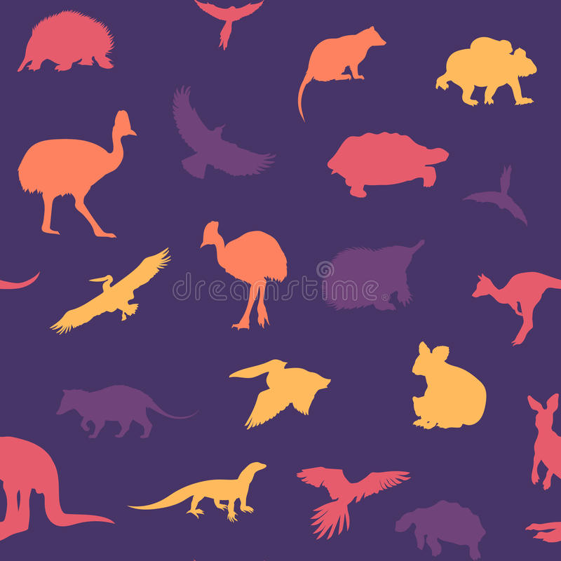 Australisch dierenpatroon stock illustratie