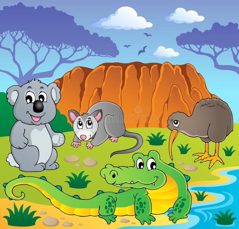 Australisch dierenthema 3 stock illustratie