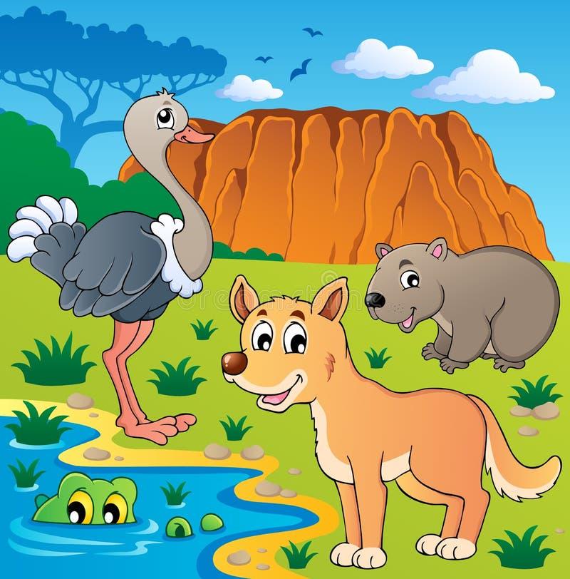 Australisch dierenthema 5 royalty-vrije illustratie