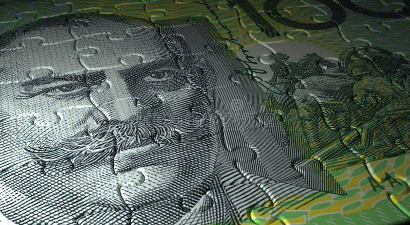 Australisch Dollarraadsel vector illustratie