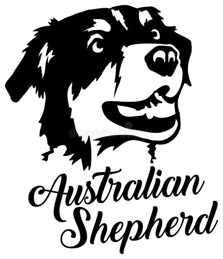 Australisch Herdershoofd royalty-vrije illustratie