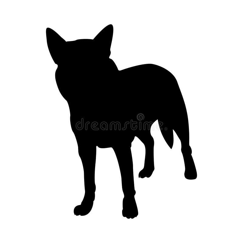 Australisch Hondsilhouet royalty-vrije illustratie