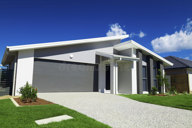 Australisch Huis in de voorsteden royalty-vrije stock foto