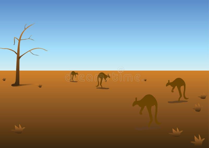Australisch panorama stock illustratie