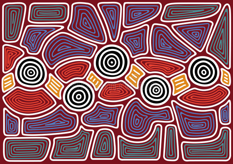 Australisch patroon royalty-vrije illustratie