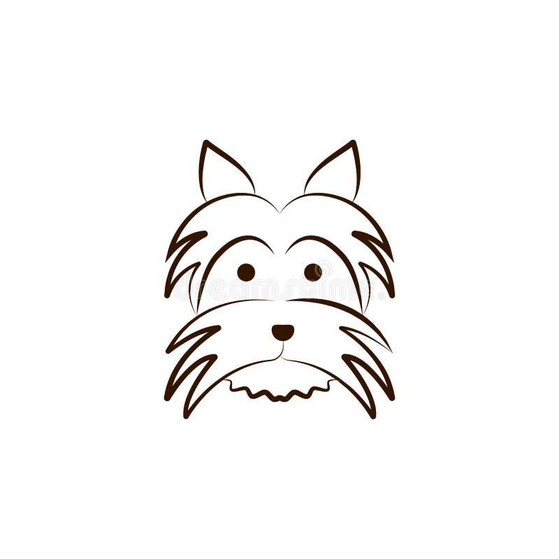 Australisch pictogram Één van de hond kweekt hand trekt pictogram stock illustratie