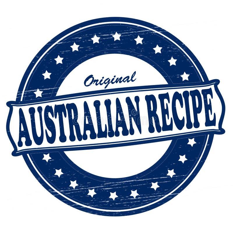 Australisch recept royalty-vrije illustratie