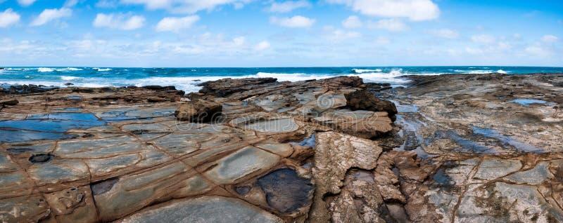 Australisch strandpanorama royalty-vrije stock afbeeldingen