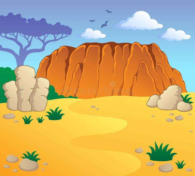 Australisch themalandschap 1 stock illustratie