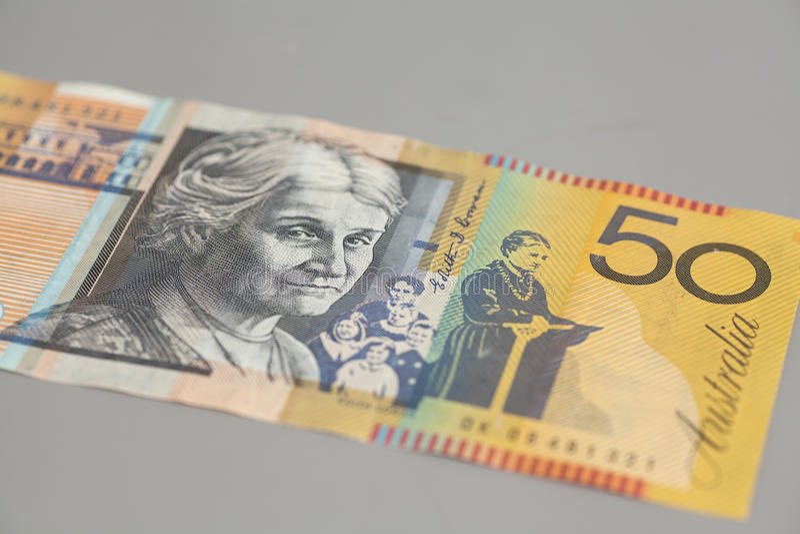 Australisch vijftig dollarbankbiljet stock foto