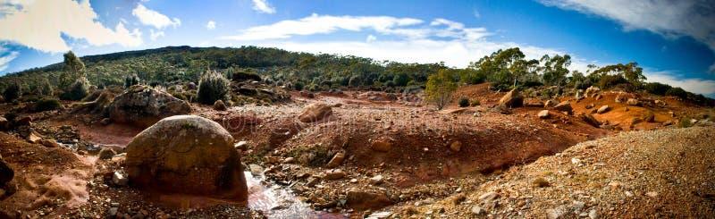 Australisch woestijnlandschap stock afbeelding