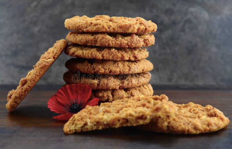 Australische Anzac-koekjes royalty-vrije stock foto's