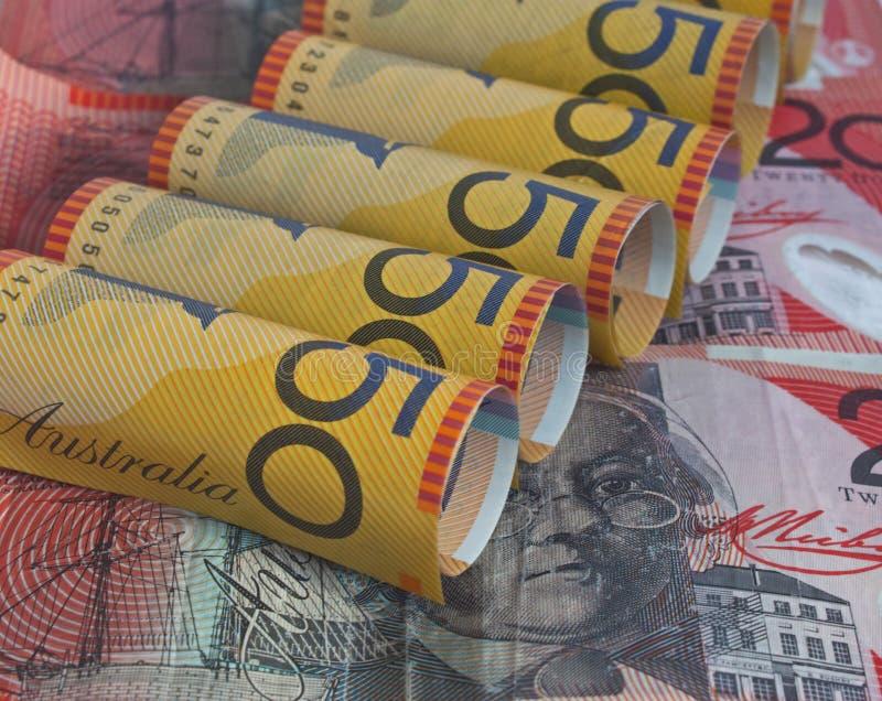 Australische Dollar 20 und 50 stockfoto
