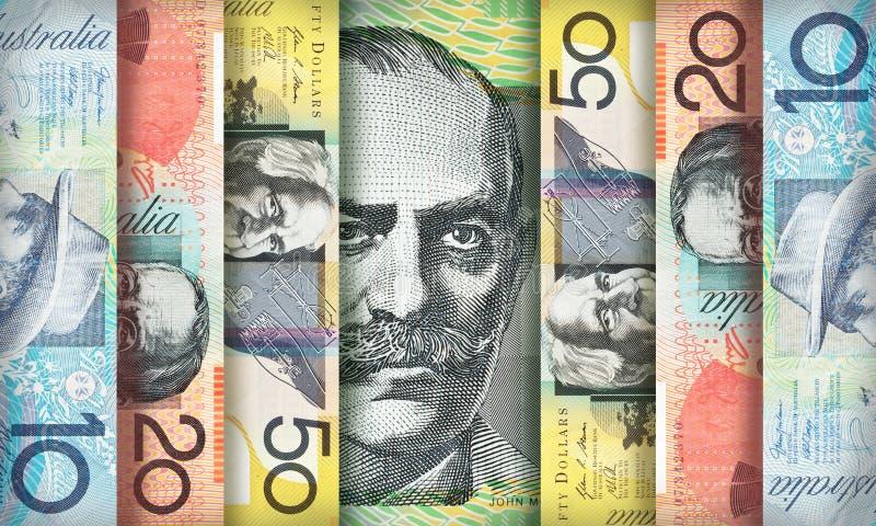 Australische dollarachtergrond stock foto's