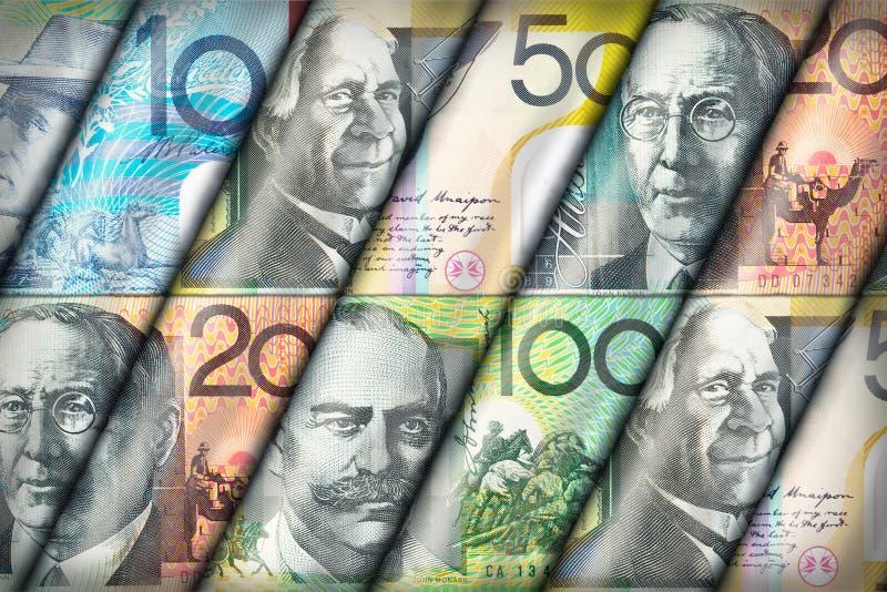 Australische dollarachtergrond royalty-vrije stock fotografie