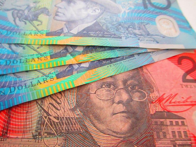 Australische Dollars royalty-vrije stock foto's