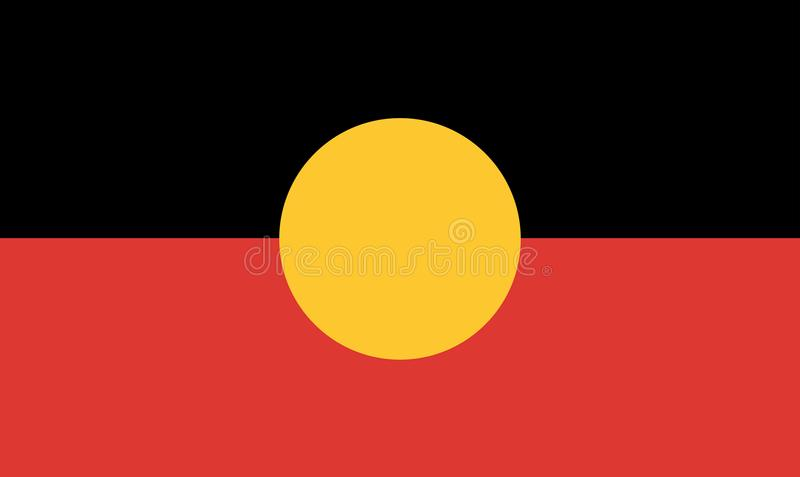 Australische eingeborene Flagge stock abbildung