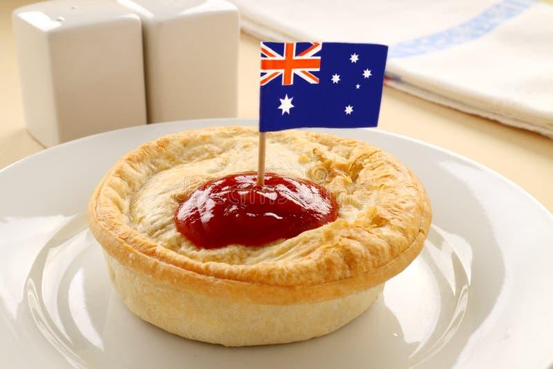 Australische Fleisch-Torte lizenzfreies stockbild