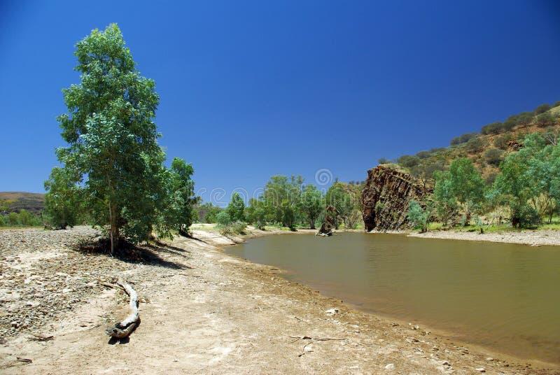 Australische Flussansicht lizenzfreie stockbilder