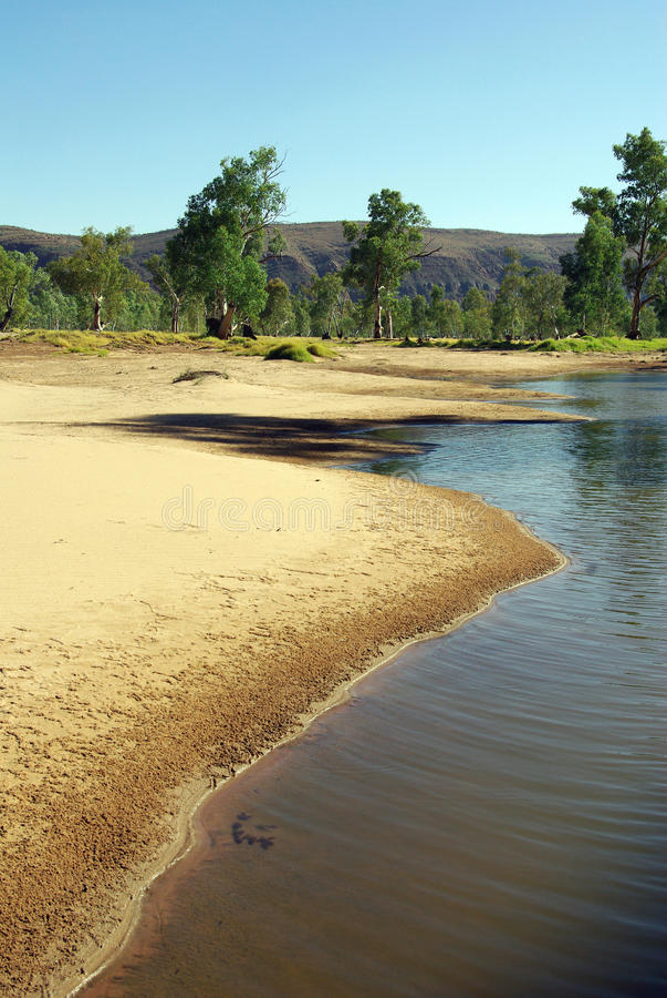 Australische Flussansicht lizenzfreies stockfoto