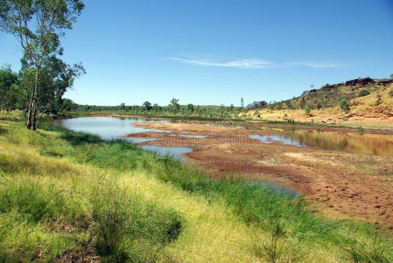 Australische Flussansicht stockfoto
