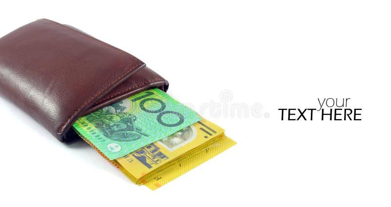 Australische geldclose-up stock foto