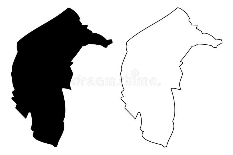 Australische Hauptstadt-Gebietskartenvektor vektor abbildung