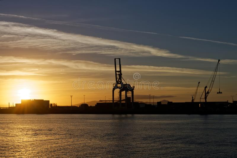 Australische haven op zonsopgang 05 royalty-vrije stock afbeelding